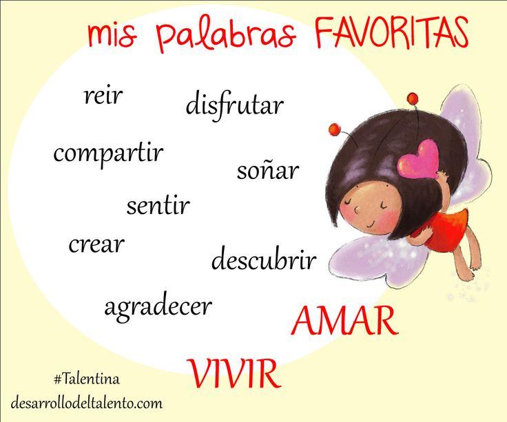 Las palabras favoritas de #Talentina...