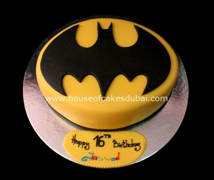Batman Cake...powder sugar stencil