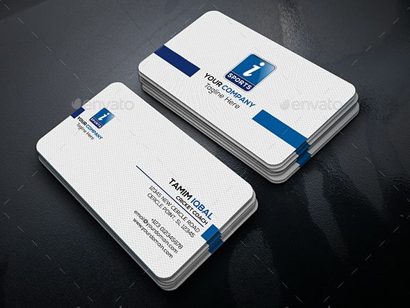 Sports Simple Business Card V1 Simple Business Cards Business Cards Business Card Design