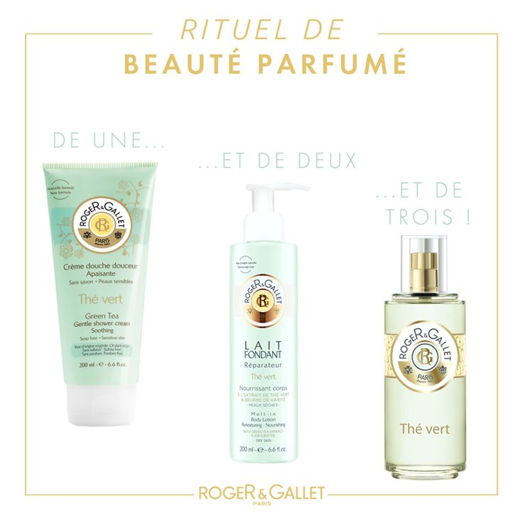 Roger and Gallet Green tea collection #roger&gallet