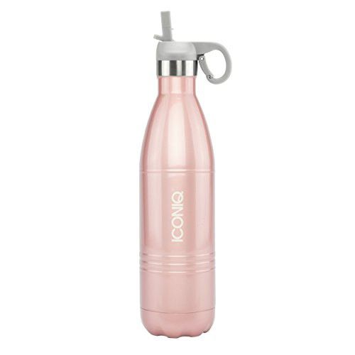 4dfef800e4 ICONIQ Stainless Steel Vacuum Insulated Water Bottle with Pop Up Straw Cap,  25 Ounce