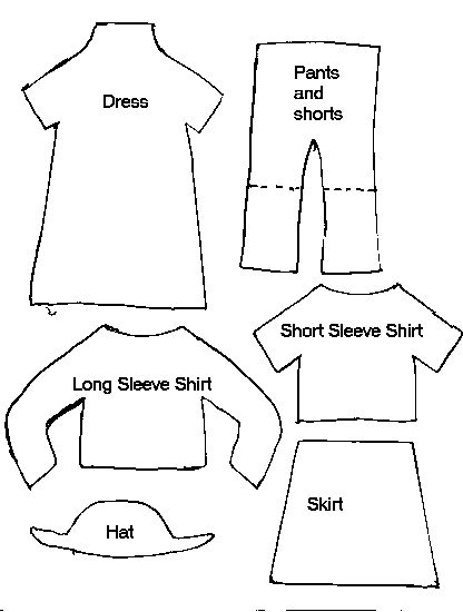 Paper Doll Clothes Template - From Sewing At About.com