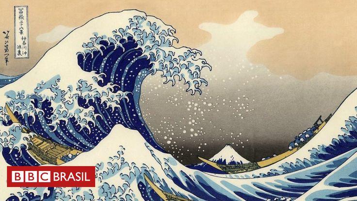 """A obra de arte mais reproduzida do mundo.  Se você pensou na """"Mona Lisa"""", de Leonardo da Vinci, ou """"O Grito"""", de Edvard Munch, errou; especialista afirma tratar-se, na verdade, da """"Grande Onda"""", do japonês Katsushika Hokusai."""