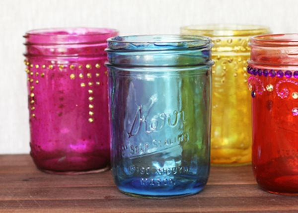How to Make Colored Mason Jars via Lilyshop Blog by Jessie Jane