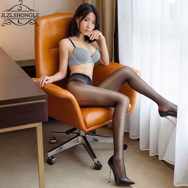 2017 Sexy Black High Waist Shiny Tights Glossy Oil Stocking Open Crotch Pantyhose Tight Women Erotic Sexy Lingerie 15 Deniers