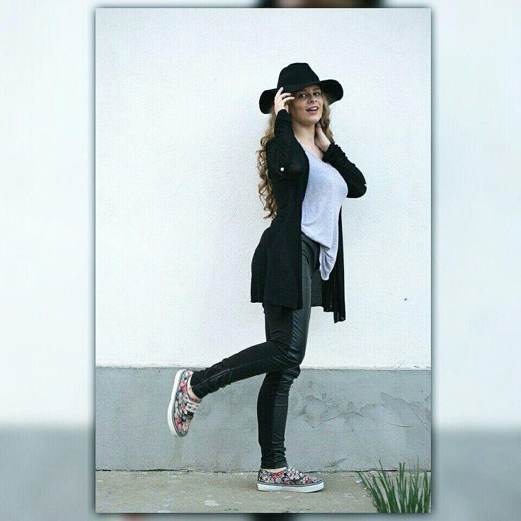 #streetstyle #hat #outfit #black #h&m #stradivarius #newyorker #me