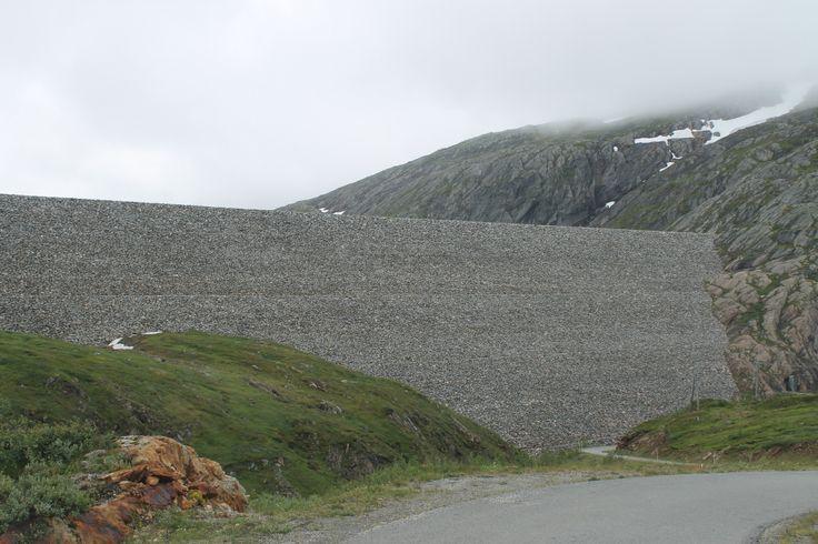 #Storglomvassdaimmen near #Svartisen in #Meløy.  The world's largest stonefilling dam.  #Kystriksveien #Norway #Northern norway. Visit this place only 9 km off the #road 17 - Kystriksveien. www.kystriksveien.no