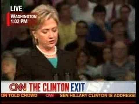 Hillary Clinton Endorses Barack Obama