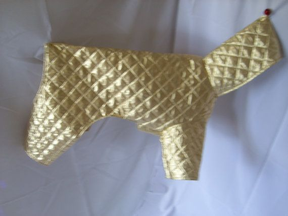 Quilted dog coat/jacket with hood.