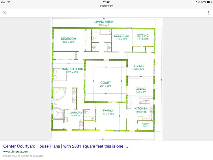 1000 images about atrium house plans on pinterest for House plans with atrium in center