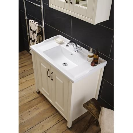 Alverton Ivory 800mm Traditional Vanity Unit With Ceramic Basin 61 Off Solid Wood