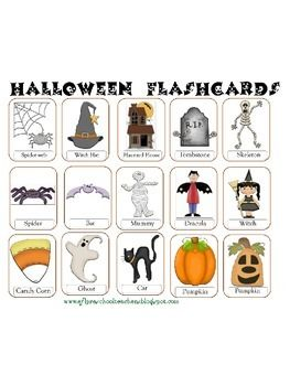 Halloween Flashcards for ELL