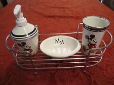 disney bathroom decor disney mickey mouse ceramic metal bathroom accessory 4 pc set