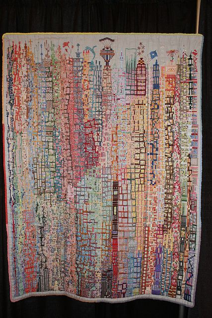 Towers and Spires by Paula Tanner, at International Quilt Festival