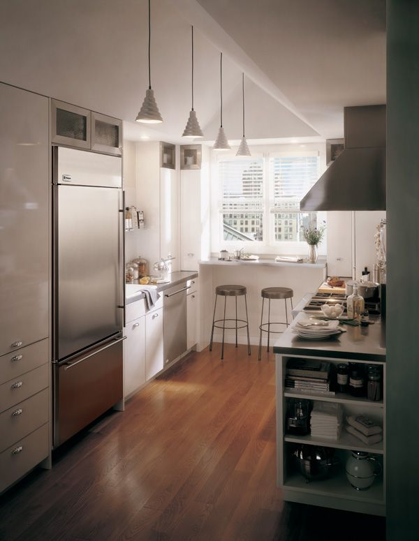 17 best images about galley kitchens other small spaces for Galley kitchen designs with breakfast bar