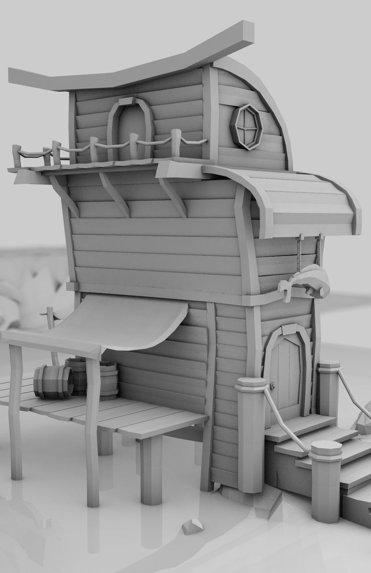 ArtStation - Low Poly / Fisherman House / Game environment, Mateusz Makowski