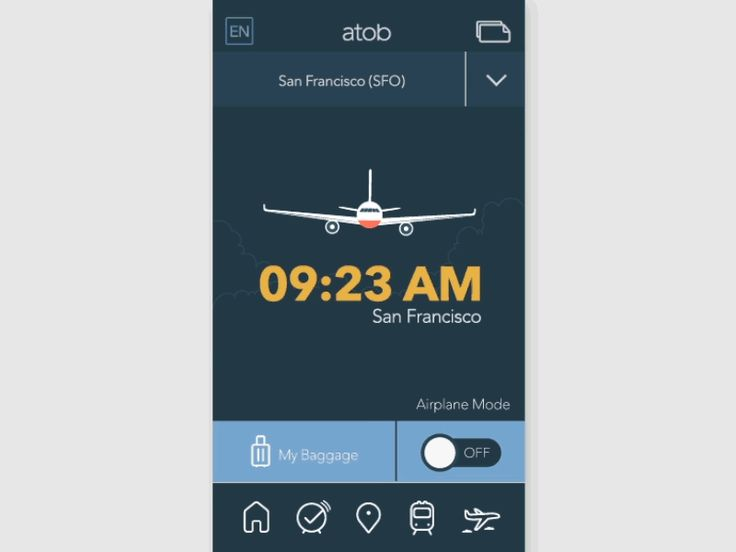 Airline App - Flight Ticket Interaction by Kyo Kim
