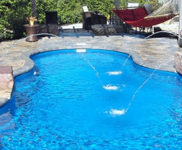 Dolphin Oasis II Fiberglass Pools for sale New Jersey: Dolphin Industries