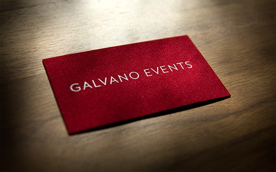 Corporate Identity für Galvano Events: Visitenkarte