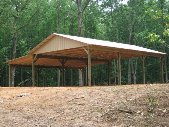 Pole barn with roof for porches barn roof lumber for Garage pole cover