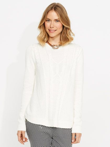 Image for Uneven Cable Zip Knit from Portmans