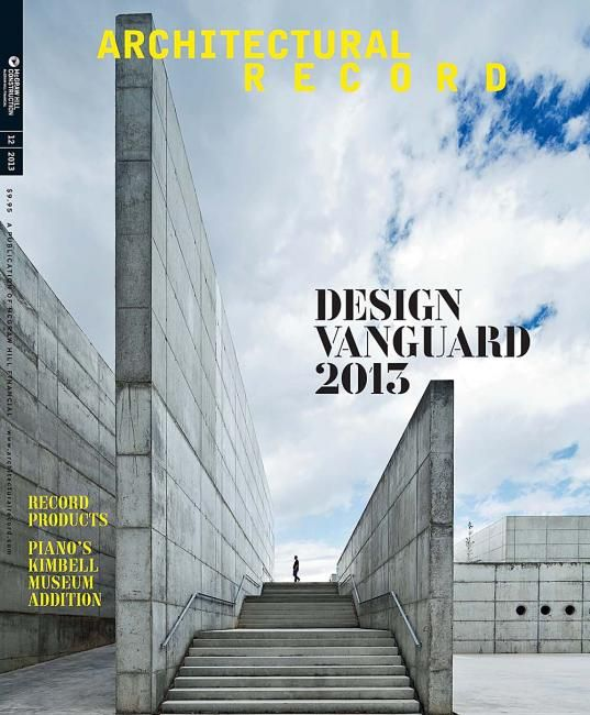 Architectural Record Us Magazine Design Cover Editorial Design