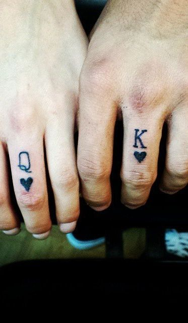 Wedding tattoos were in the cards for this duo!
