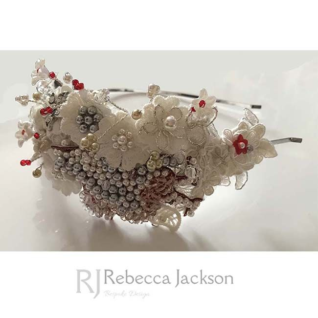 Liverpool, Liver Bird, Bridal Tiara, Headpiece, by Rebecca Jackson, Bespoke.   Do you fancy something a little different?   This stunning headpiece was designed for a Liverpool fan, who wanted her love of Liverpool Football Club to be shown on her Wedding Day but in a classy way. She also wan
