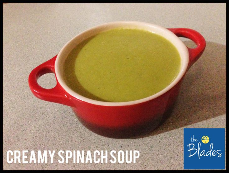 Creamy Spinach Thermomix Soup - The 4 Blades