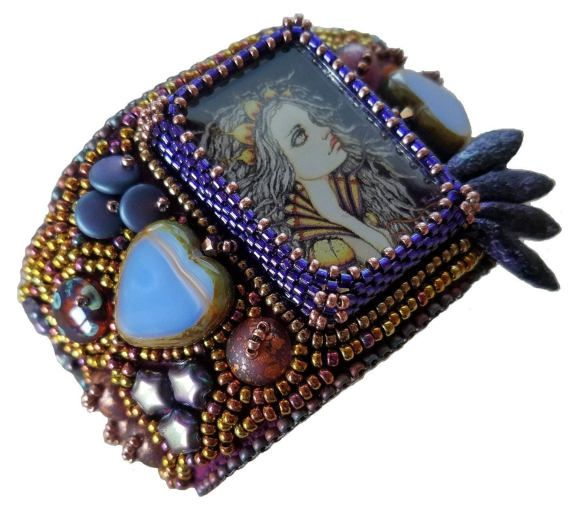 Bead Embroidered Bracelet
