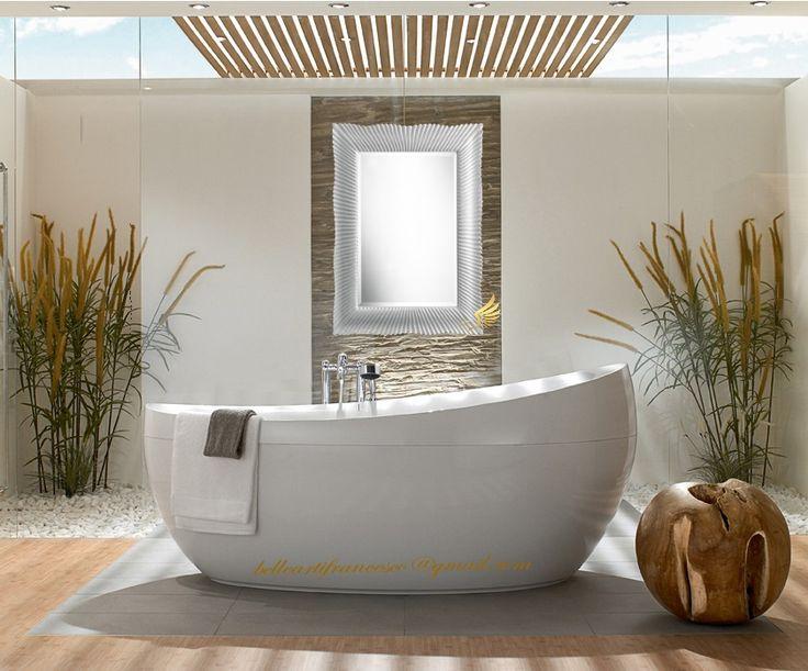 bathroom white mirror frames idea