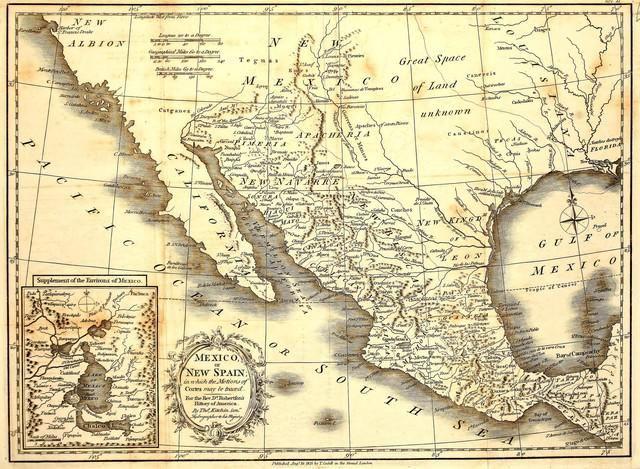 antiguo mapa de mexico