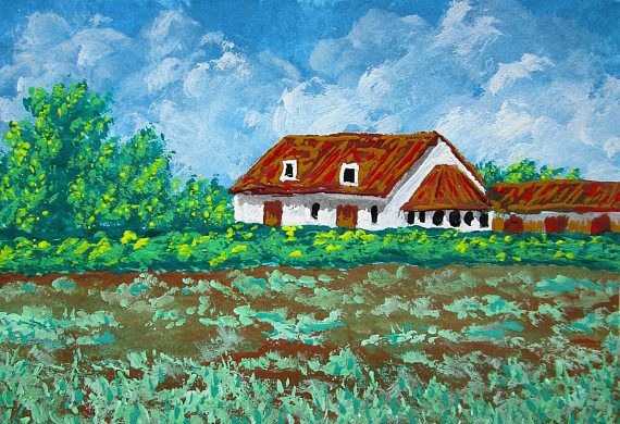 ARTIST TRADING CARD Belgian Farm 250 by Mike Kraus 2.5