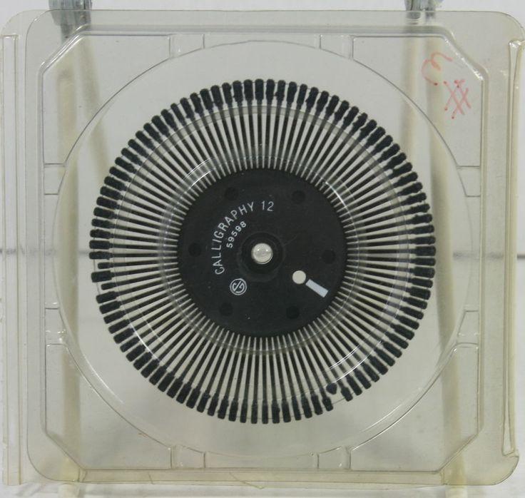 Smith Corona Typewriter Print Wheel Fonts Calligraphy 12 - Plastic Case #59598 #SmithCorona