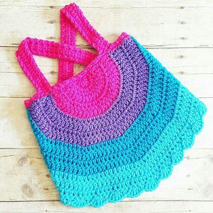 Crochet Baby Swing Top Halter Top Tank Top Backless Shirt Newborn Infant Toddler Handmade Clothing