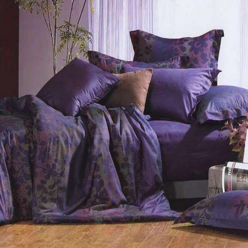 Dark Blue and Purple Bedding Sets  | Grandin Road Color Crush on Purple Thistle