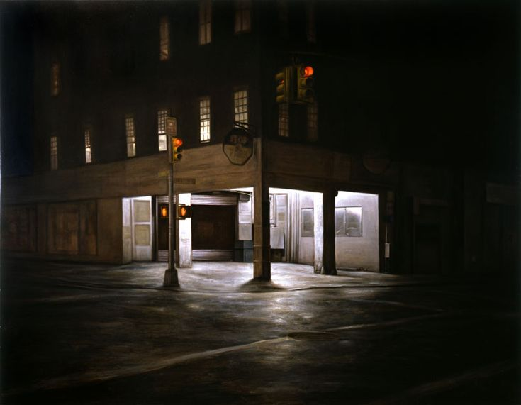 Dan Witz | Kenmare and Elizabeth 2005 44x68 oil and mixed media on canvas
