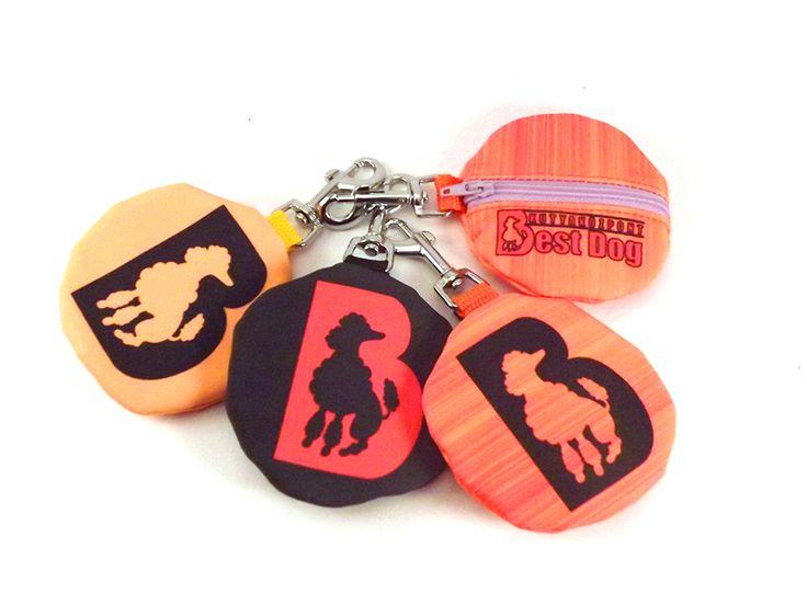 Egyedi kakizacsi tartók, kutyaiskola grafikával / Unique poop bag holder with dogschool graphics