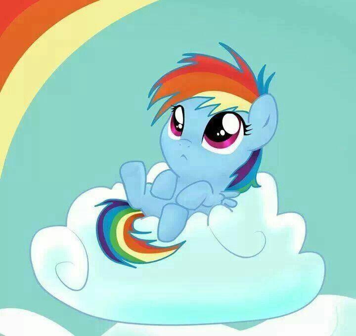 Baby Rainbow Dash | My little pony | Pinterest