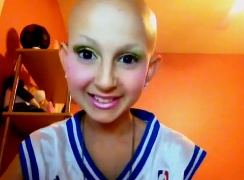 """This is Strength!  """"Having so much self-confidence to go out to the grocery store without a wig… It's just amazing."""" Click """"Like"""" if 12-year-old Talia Joy Castellano's makeup tutorials brighten your day as much as they do ours! Read her absolutely inspiring blog here http://blog.sfgate.com/sfmoms/2012/08/10/12-year-old-girl-with-cancer-makes-the-world-smile-and-cry-with-her-inspiring-makeup-tutorials/#"""
