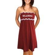 Oklahoma Sooners Ladies Crimson Braided Dream Tube Dress