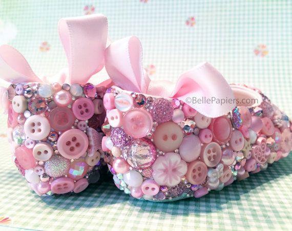 Infant Baby Ballerina Ballet Shoes Slippers door BellePapiers