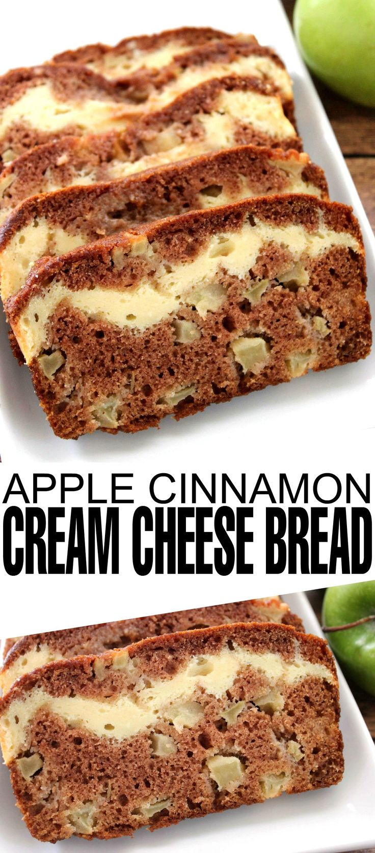 This Apple Cinnamon Cream Cheese Bread is perfect to enjoy with a coffee on a warm autumn day!