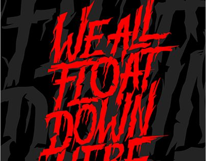 "Check out new work on my @Behance portfolio: ""We All Float DOwn Here!"" http://be.net/gallery/55063031/We-All-Float-DOwn-Here"
