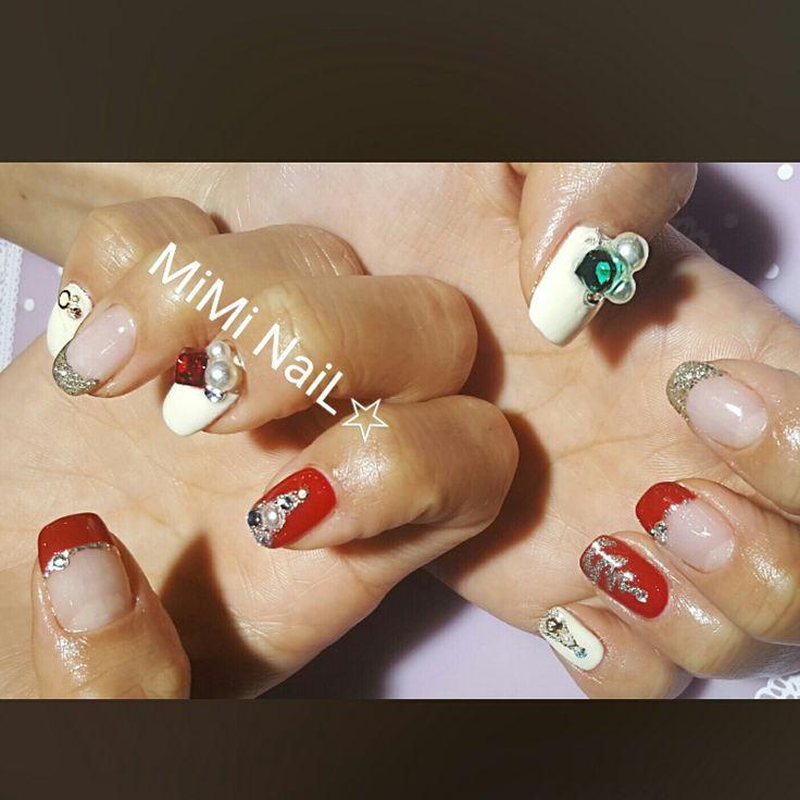 Nails nailart christmas nailart miminail☆