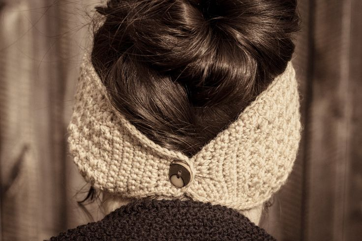 quick winter headband crochet diy create in austria pinterest stirnband h keln selber. Black Bedroom Furniture Sets. Home Design Ideas