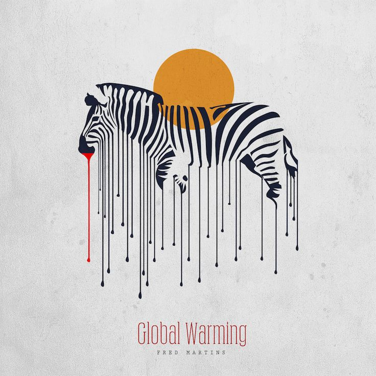 Nigerian artist Fred Martins uses art to trigger an emotional response in the viewer and to convey a serious message about climate change. Global Warming Poster, Global Warming Drawing, Environmental Posters, Climate Action, Gcse Art, Illustration, Architecture Design, Creative, Drawings