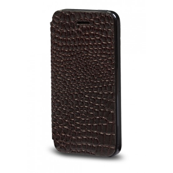 Crocodile black, leather folio cover for iPhone 5 by dbramante1928. Price: $40. More information: www.dbramante1928.com.