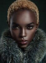 Image result for African American dark-skinned women with Blonde TWA