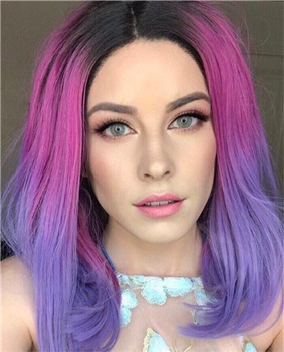 Violet Rosemary Mixed Bob Lace Front Wig – FashionLoveHunter